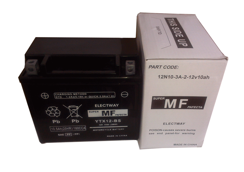ELECTWAY maintenance free motorcycle battery